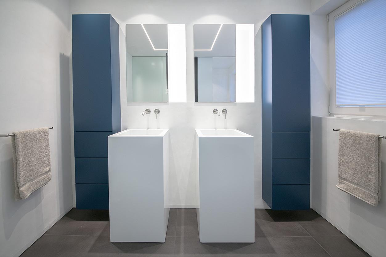 Bukoll Bäder und Wärme, Dießen am Ammersee, Referenzen, kleines Bad in blau,