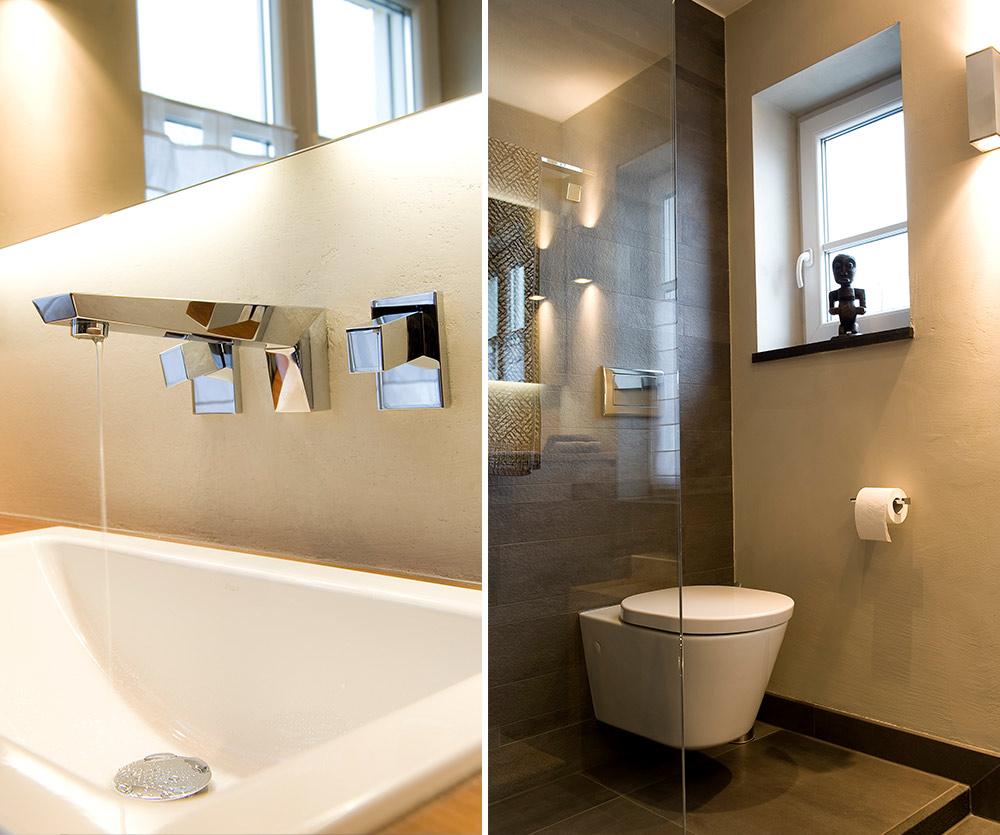 Bukoll Bäder und Wärme, Dießen am Ammersee, Referenzen, kleines Bad, Holz im Bad, WC